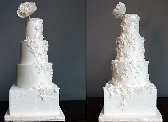 bas relief wedding cake by Shannon Bond Cake Design