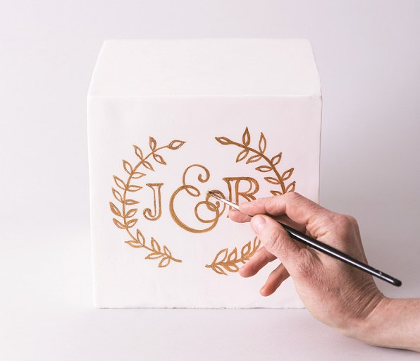 Cake calligraphy tutorial by Faye Cahill from The Gilded Cake, 6