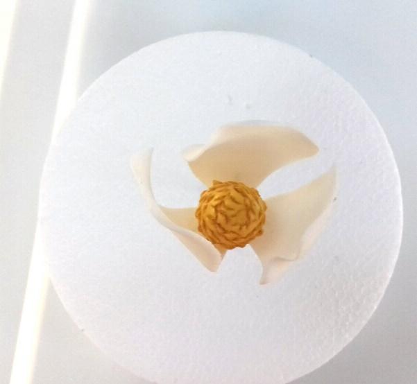 Gumpaste Magnolia Tutorial on Cake-Geek.com - Quick & Easy Sugar Flower Tutorials