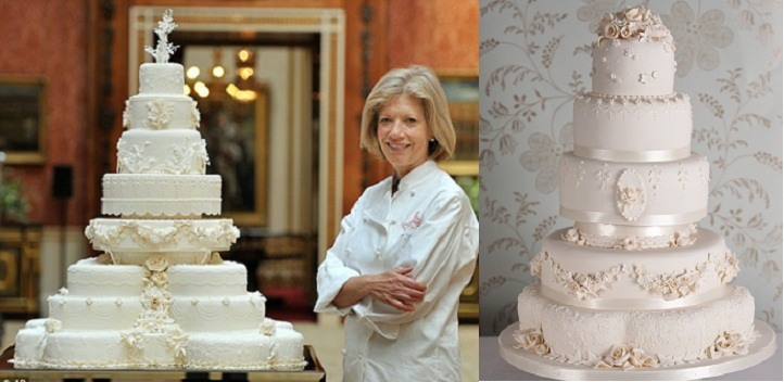 Royal wedding cake by Fiona Cairns with wedding cake inspired by Royal Wedding cake