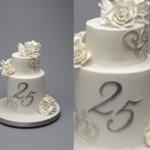anniversary cake silver wedding anniversary