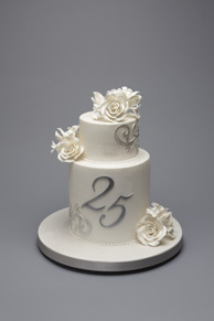anniversary cake for 25th silver wedding anniversary
