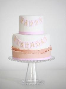 happy birthday banner cake by Erica O'Brien
