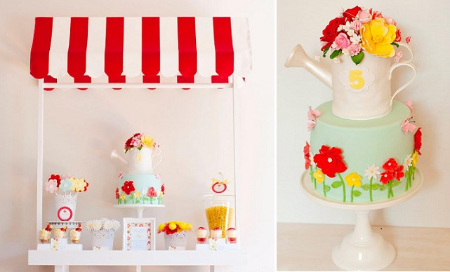 watering can cake for a gardener by Just Call Me Martha, Enraptured Photography