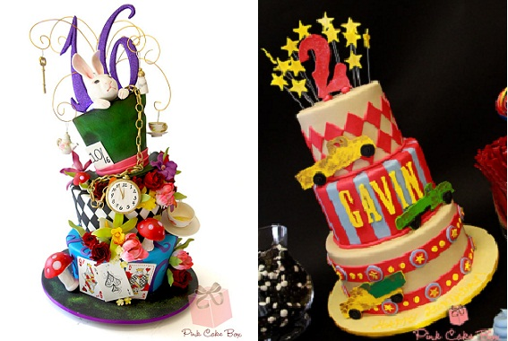 harlequin cakes by The Pink Cake Box