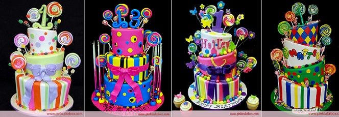 Lollipop Cakes by The Pink Cake Box