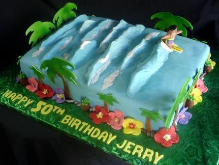surfer cake by aj's moonlight bakery.net