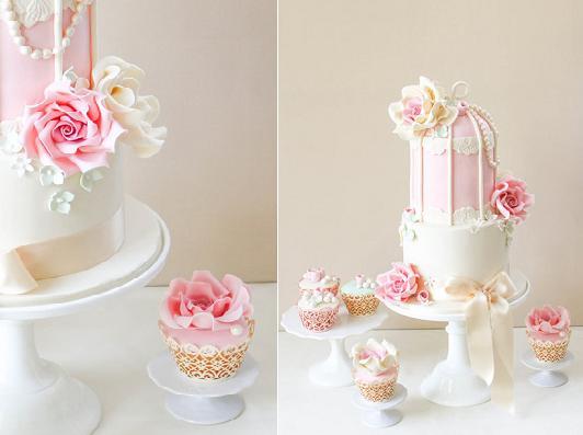 bird cage cake by Alma Pasteles