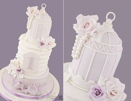 bird cage cakes from Little Cherry Cake Company