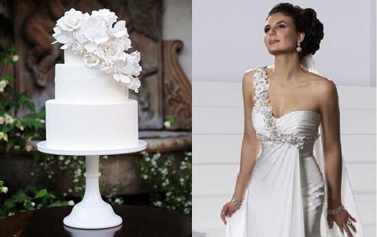 wedding cake trend floral sash cake