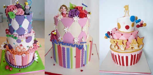 harlequin cake by Tuff Cookie Cakes