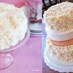 buttercream rosette cakes byi am baker.com and sistersbakingco.blogspot.com