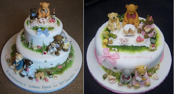 teddy bear picnic cakes