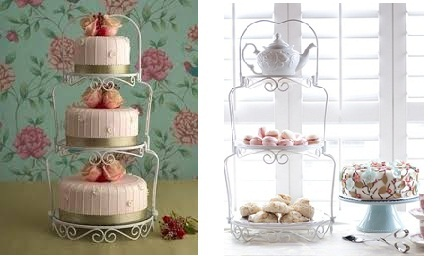 vintage wedding cake stand as featured in Cakes For Romantic Occasions by May Clee Cadman from Maisie Fantastie Cakes and houseandhome.com