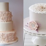Ruffle rose cakes from Jen's Cakery (left) and Bake-a-Boo NZ (right