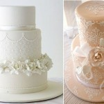 stencilled wedding cakes by Sweet Art .com.au and Sweet And Simple Cakes com.au