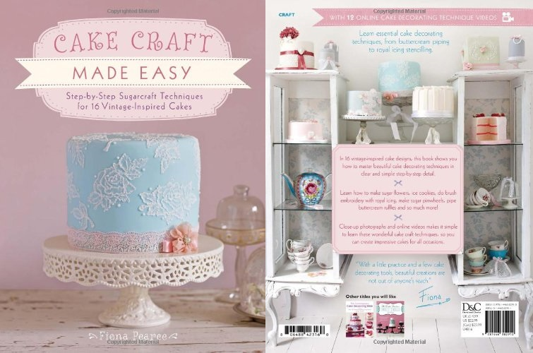 lace piping technique from Cake Craft Made Easy by Fiona Pearse
