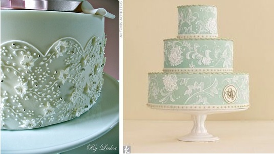 Piped Lace Wedding Cake By Leslea Matsis Left And Image Right Antonis