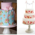 Edible Icing Sheets with cake by Couture Cupcakes .com.au (left) and icing sheets by In The Tree House UK (right)