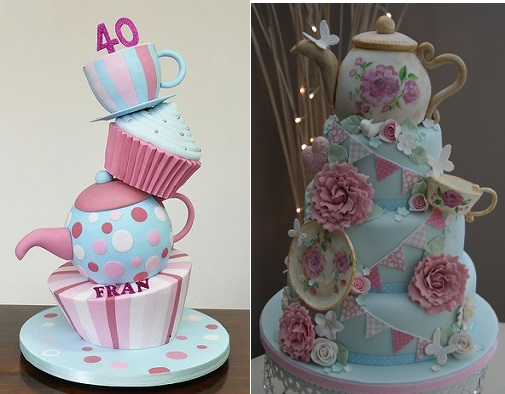 Teapot Cakes by HowToCakes. com and Katie's Cakes
