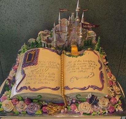 fairytale story book cake by Rosebud Cakes