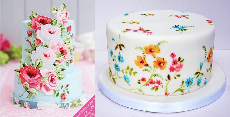 hand painted cake by Nevie's Cakes UK