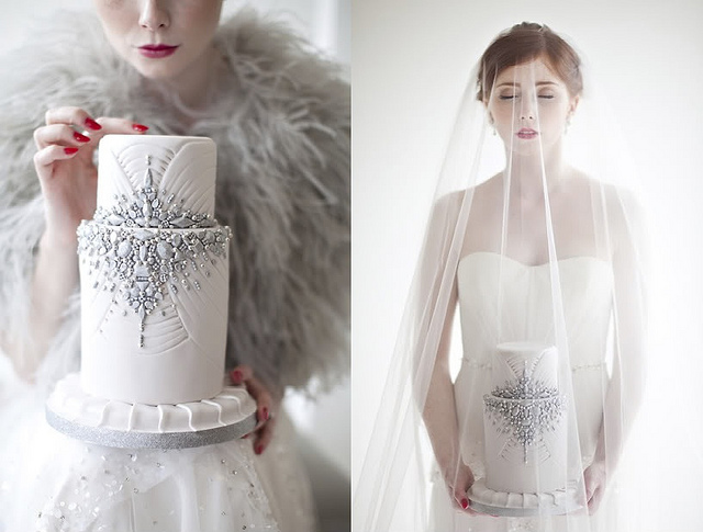 jewelled wedding cake by The Caketress