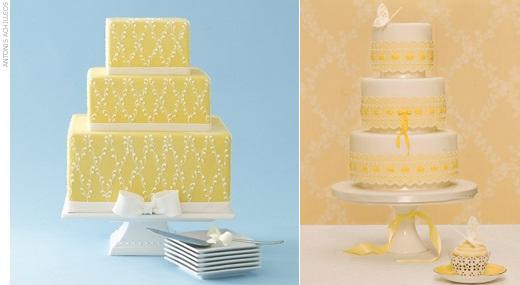 lemon-wedding-cake-from-the-knot.com_.au (left) and from Zoe Clark of The Cake Parlour right
