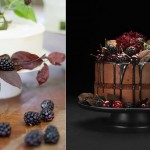 autumn cakes with berries