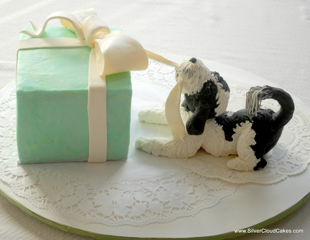 Dog cake by Silver Cloud Cakes