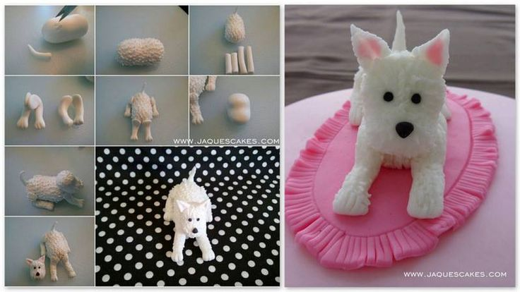 Dog cake topper by Jacques Cakes blog