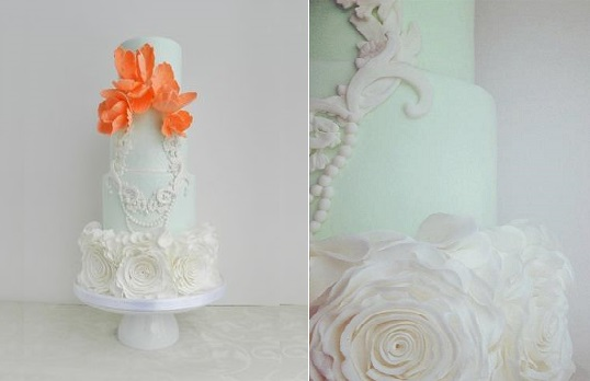 lace frame wedding cake by The Cake Whisperer
