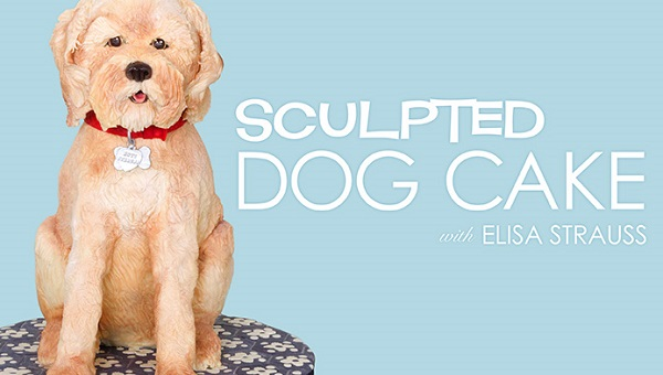 sculpted dog cake tutorial by Eliza Strauss of Confetti Cakes