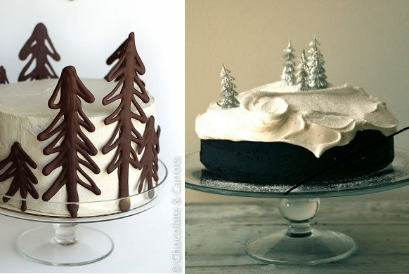 Chocolate Forest Cake (left) by Chocolate & Carrots, and cake on the right by Mat pa Bordet