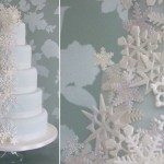Snowflake wedding cake by Maki's Cakes