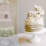 Spring Wedding Cakes from The Little Salmons Bakery (left) and Maggie Austin (right) 2