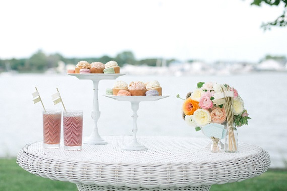 make your own cake stands tutorial from Bayside Bride, photo by Krista A. Jones Photography