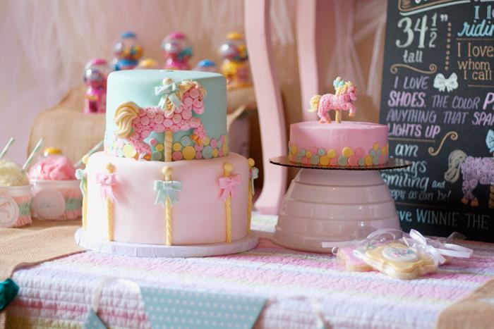 Tremendous Carousel Cakes Plus Tutorials Cake Geek Magazine Personalised Birthday Cards Akebfashionlily Jamesorg
