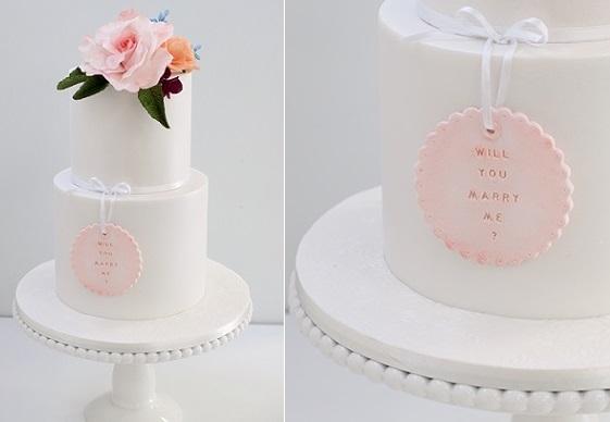 engagement cake, proposal cake by Janet O'Sullivan Cake Design