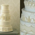 lambeth piping via Martha Stewart Weddings left and by J'adore Cakes Co. right