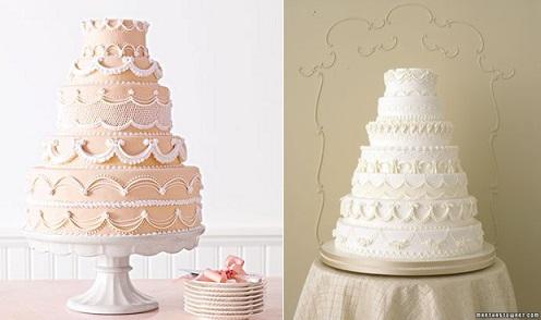 lambeth piping with wedding cakes from Martha Stewart Weddings