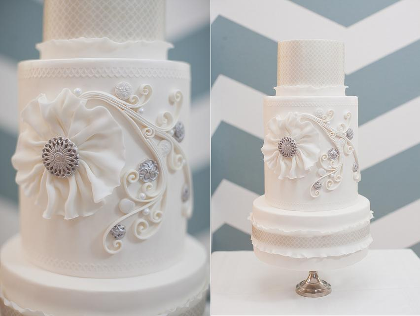 quilled or quilling cake design from Hey There Cupcake