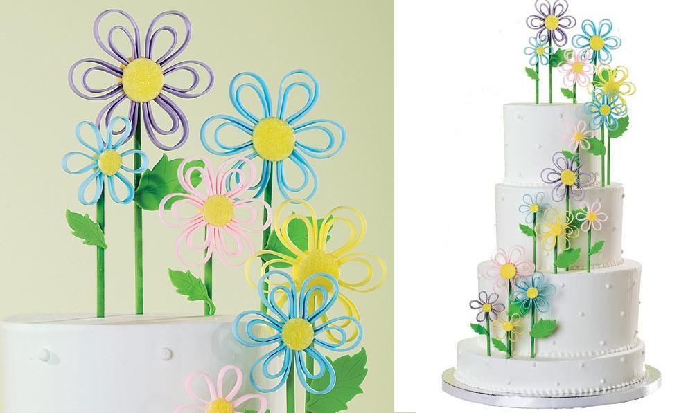 quilling or quilled cake tutorial by Wilton