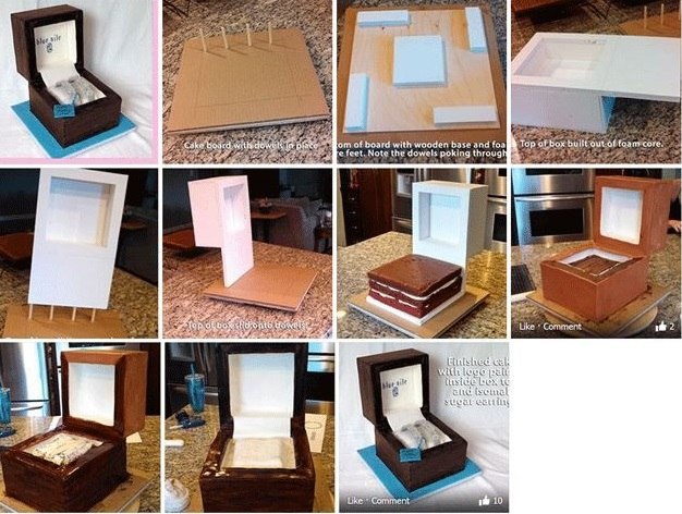 ring box cake tutorial proposal cake