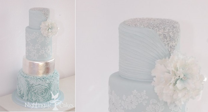 Pleated cake design by Nightingale Cakes