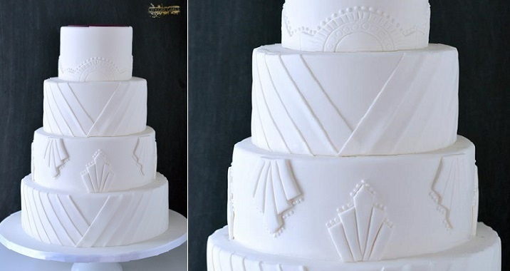 art deco wedding cake by City Girl Cakes