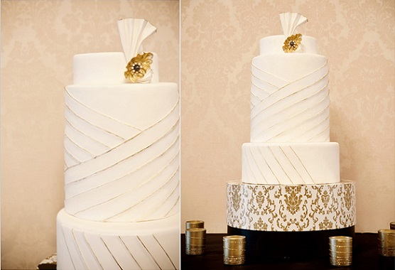 art deco wedding cake by Superfine Bakery via Wedding Chicks with Krista Mason Photography