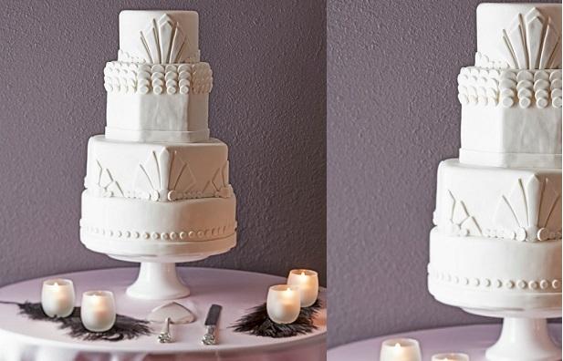 Art Deco Wedding Cake By Tiers Of Joy Cakes Reno
