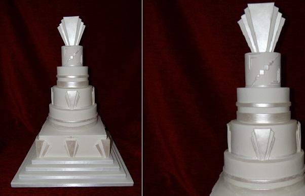 art deco wedding cake from Top Nosh Cakes UK