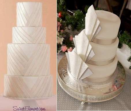 art deco wedding cakes by Sweet Element left and Cake Witch on Cakes Decor right